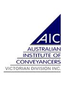 AICS - Australian Institute of Conveyancers - Victorian Division Inc.
